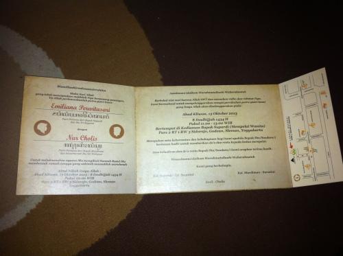 undangan siap untuk disebarkan